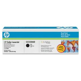 HP CC530AD fekete toner dupla csomag