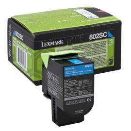 Lexmark 802Sc Festékkazetta Ciánkék /80C2Sc0/