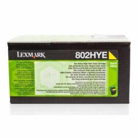 Lexmark 802HYE nagy kapacitású festékkazetta sárga (3k) /80C2HYE/