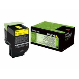 Lexmark 802XYE extra nagy kapacitású festékkazetta sárga (4k) /80C2XYE/