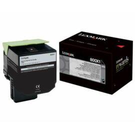 Lexmark 800X1 Extra Nagy Kapacitású Festékkazetta Fekete /80C0X10/