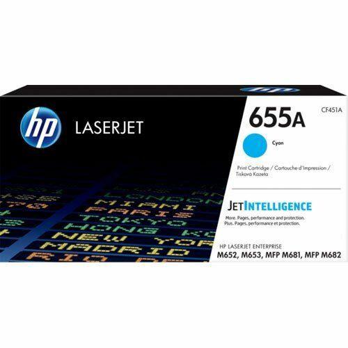 HP 655A LaserJet tonerkazetta ciánkék /CF451A/