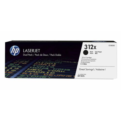 HP 312X 2 darabos nagy kapacitású tonerkazetta fekete /CF380XD/