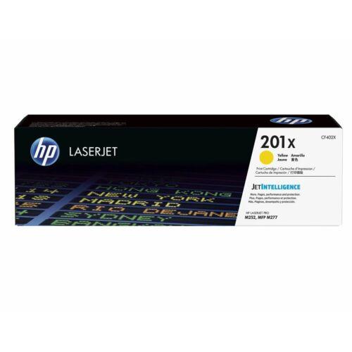 HP 201X nagy kapacitású sárga tonerkazetta /CF402X/