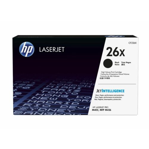 HP 26X nagy kapacitású tonerkazetta fekete (CF226X)