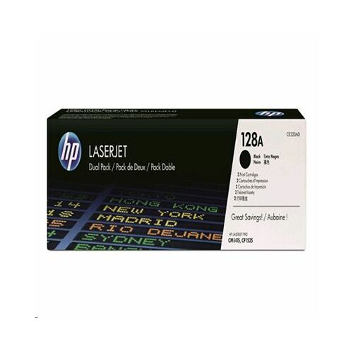 HP CE320AD fekete dupla toner (128A)