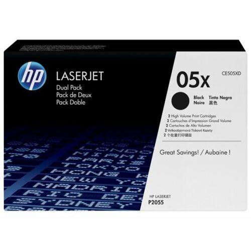 HP CE505XD fekete toner duo pack