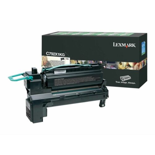 Lexmark C792 extra nagy kapacitású festékkazetta fekete /C792X1KG/