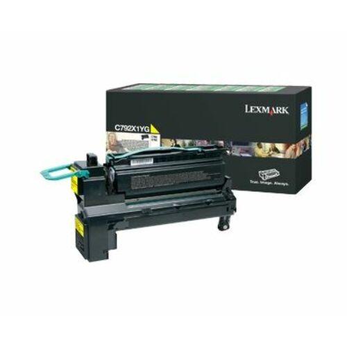 Lexmark C792 extra nagy kapacitású festékkazetta sárga /C792X1YG/
