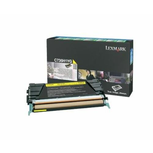 Lexmark C736, X736, X738 nagy kapacitású festékkazetta sárga /C736H1YG/