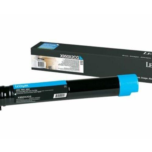 Lexmark X95x extra nagy kapacitású festékkazetta ciánkék /X950X2CG/
