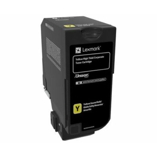 Lexmark CX725 nagy kapacitású tonerkazetta sárga (16K) /84C2HYE/
