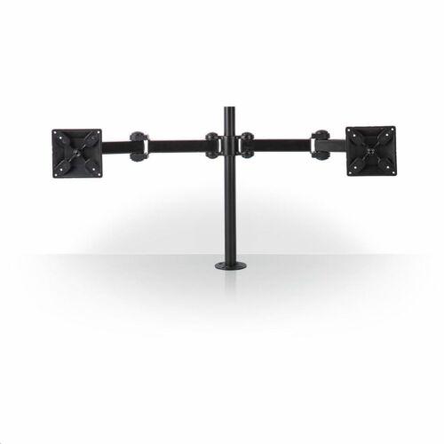 Nedis ergonomikus monitorkonzol dupla, minden irányban mozgatható fekete /ERGODMM100BK/