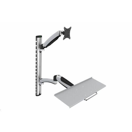 "Digitus karos monitor állvány billentyűzet tartóval 17-27"" 8kg /DA-90354/"