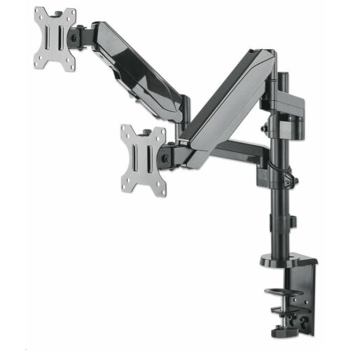 Manhattan dupla LED/LCD asztali kar LED/LCD 17''-32'' 2x8kg gázrugóval /461597/