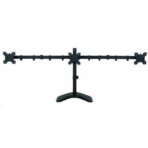 Techly asztali kar 3 monitorhoz TV LED/LCD 13-24'' VESA 3x10kg szabályozható /027569/