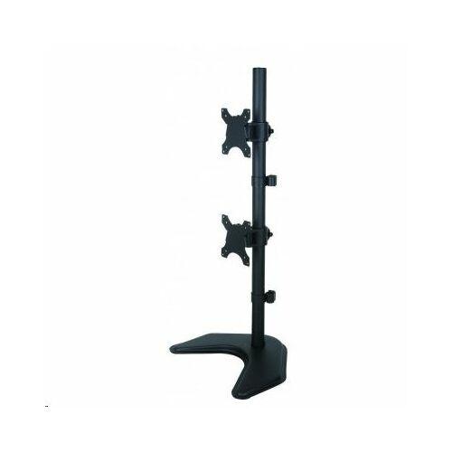Techly ICA-LCD 2520V monitortartó asztali konzol dupla LED/LCD 13-27'' 2x10kg fekete /027552/