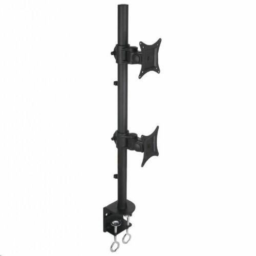 Techly monitortartó asztali konzol dupla LED/LCD 13-27'' 2x10kg fekete /020690/