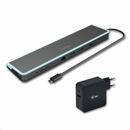 i-tec USB-C Flat Docking Station + Power Delivery 60W dokkoló állomás + Univerzális USB-C tápegység fekete /C31FLATV260W/