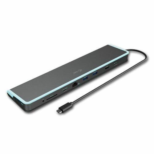 i-tec USB-C Flat Docking Station + Power Delivery 60W dokkoló állomás fekete /C31FLATDOCKPDV2/
