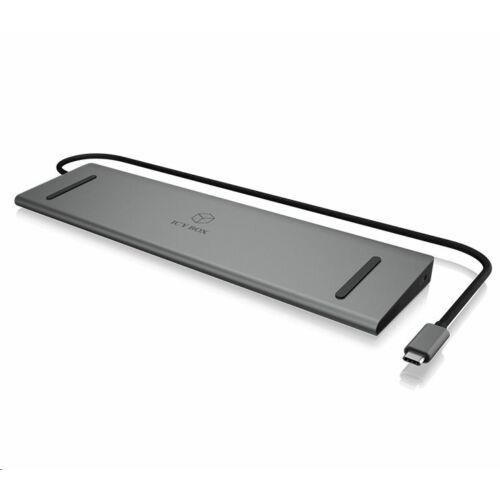 RaidSonic ICY BOX USB Type-C notebook dokkoló szürke /IB-DK2106-C/