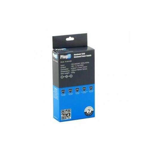 PlugIT notebook töltő HP 19V 4.74A 90W /PI-ND-008/