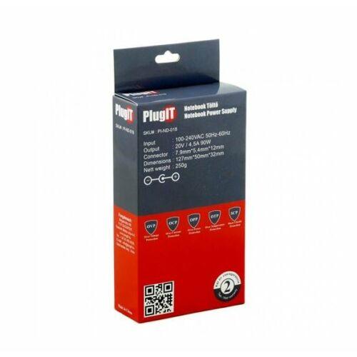 PlugIT Notebook töltő Lenovo 20V 4.5A 90W /PI-ND-018/