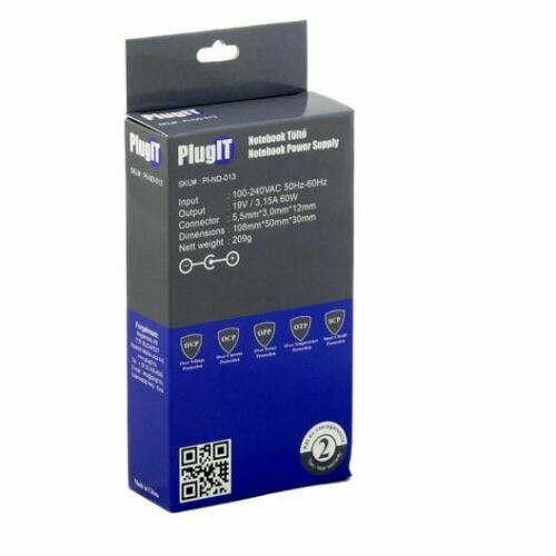 PlugIT Notebook töltő Samsung 19V 3.15A 60W /PI-ND-013/