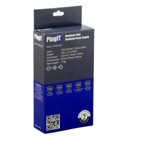 PlugIT Notebook töltő Samsung 19V 2.1A 40W /PI-ND-022/