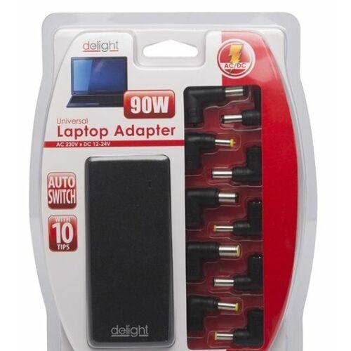 PRC Delight Univerzális laptop/notebook töltő adapter tápkábellel 12-24V/5-6A 90W /55360/