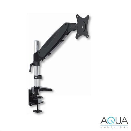 Techly monitortartó asztali konzol LED/LCD 15''-27'' 8kg VESA fekete-ezüst /022427/