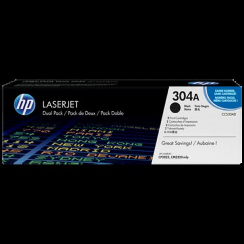 Hp Cc530Ad Toner Black 2X3,5K No.304Ad (Eredeti)