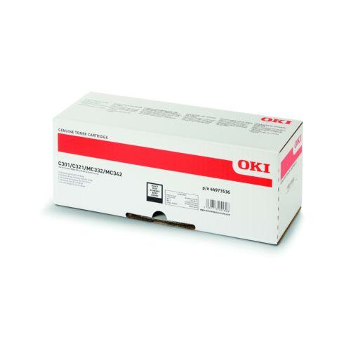 Oki C301/C321 Toner Black 2,2K (Eredeti)